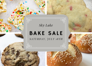 July 18th Bake Sale