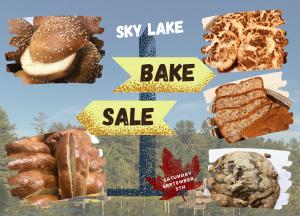 Sky Lake Bake Sale (Saturday, September 5th)