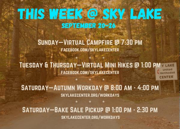 This week at Sky Lake at a glance