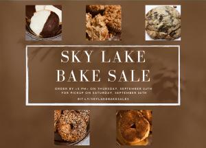 Sky Lake Bake Sale (Saturday, September 26th)