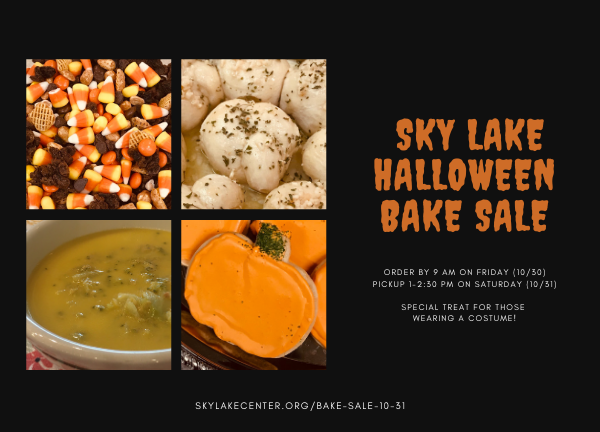 Sky Lake Halloween Bake Sale